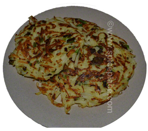 Serving of Crispy Potato Pancakes