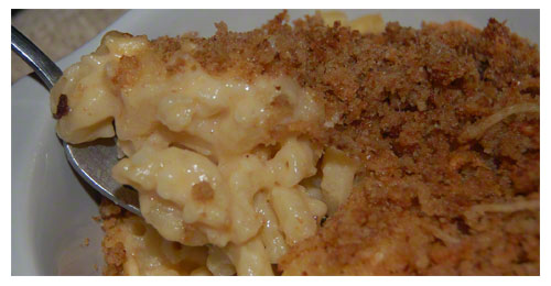 Closeup of Macaroni and Cheese Recipe