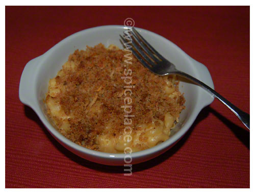 Serving of Delicious Macaroni and Cheese 