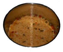 Picture of Prepared Lawry&#039;s Mexican Rice In Pan