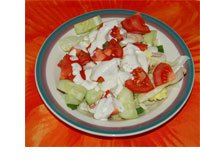 Picture of salad with Hidden Valley Ranch Dressing