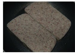 Picture of Sliced Scrapple in Skillet