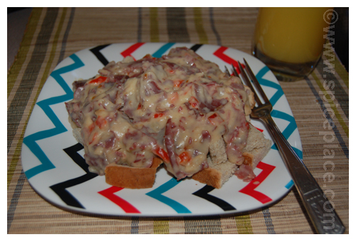 Serving of Creamed Chipped Beef Recipe