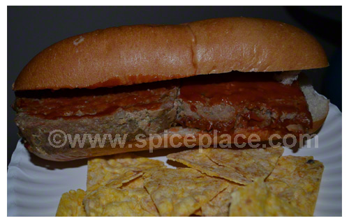 Spatini Turkey Meatloaf Submarine Sandwich