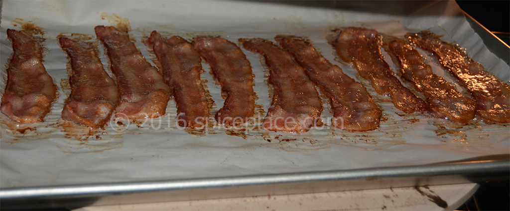 Bacon In Oven at 15 minutes