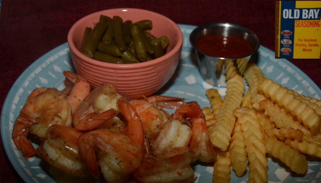 Steamed Shrimp Seasoned with Old Bay Seasoning