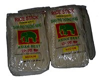 Asian Best Pho Rice Stick Noodles Medium 4 x 1lb