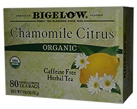 Bigelow Organic Chamomile Citrus Herb Tea 80 Count