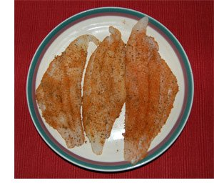 Picture of seasoned Cajun Catfish Fillets