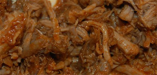 Picture of pulled pork bbq and sauce