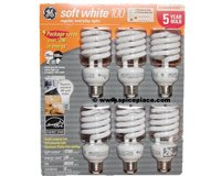 Six pack of compact fluorescent lamps