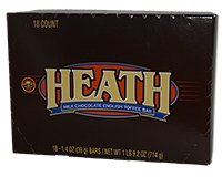 Heath English Toffee Bar Carton of 18 1.4 oz bars
