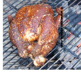 Picture of Maryland Grilled Chicken on a weber grill
