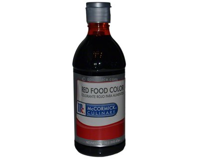 McCormick Red Food Coloring 16 oz (1 pint) 0.47L $9.72USD - Spice Place