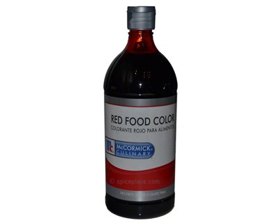 McCormick Red Food Color 1 Quart 0.94L $17.56USD - Spice Place