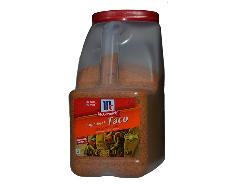 Mccormick Taco Seasoning 6lbs 2 72kg 38 11usd Spice Place