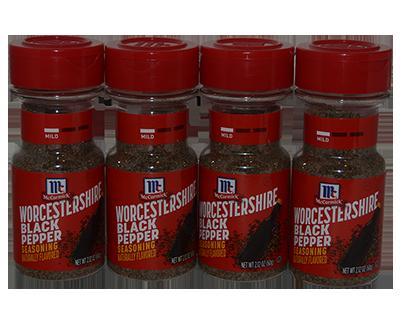 McCormick Worcestershire Black Pepper 4 x 2.12oz 60g $20.57USD ...