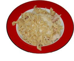 Picture of Old Bay Chicken and Egg Noodles