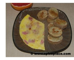 Serving of Inverted Omelet