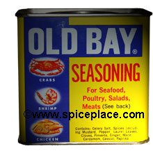 Picture of Old Bay Seasoning in Original Steel Can