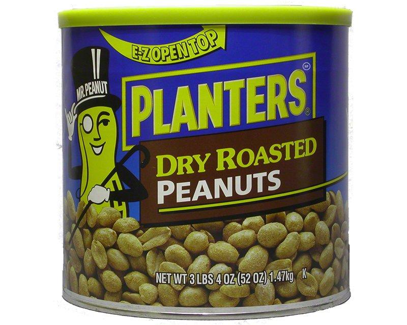 Planters Dry Roasted Peanuts 3lbs 4oz