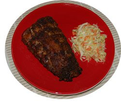 Mesquite Ribs and Coleslaw
