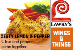Lawry's Wings & Things Zesty Lemon & Pepper Seasoning Description