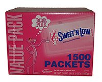 Sweet'N Low Sugar Substitute 1500 Pouches 53oz 1500g