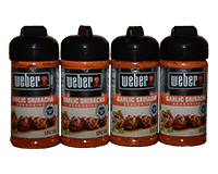 Weber Garlic Sriracha Seasoning 4 x 6.2oz (176g) 4 pack